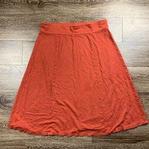 Eileen Fisher | Burnt Orange Linen Round Skirt M